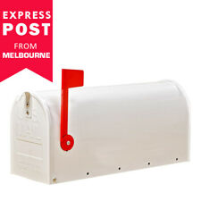 Letterbox Mailbox White US Style Vintage American Mail Letter Box