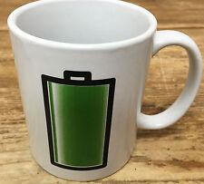Coffee Mug Battery Kikkerland Netherlands Stuck Green Morph with Heat Dutch