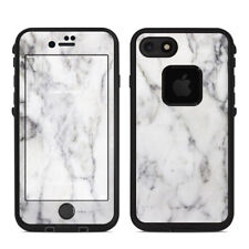 Skin for LifeProof FRE iPhone 7 - White Marble - Sticker Decal