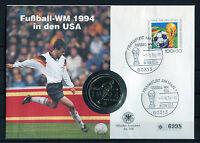 BRD Numisbrief USA Half Dollar Fußball WM USA 1994 Stempelglanz