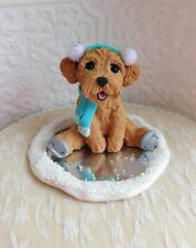Goldendoodle Labradoodle Schnoodle Ice Skating Clay by Raquel at theWrc