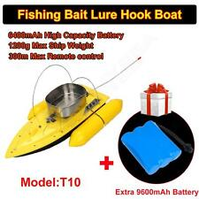 T10 RC Bait Boat Hook Carp Fishing Boat+Free Rechargeable 9600mAh Battery Yellow