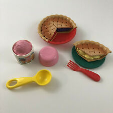 Vintage Fisher Price Pie Surprise Dessert for Little Tikes Play Food Complete