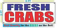FRESH CRABS Banner Sign NEW Larger Size Best Quality for the $$$ Fish Market
