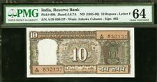 India 10 Rupees ND (1985-90) R.N Malhotra Letter-F CH UNC PMG 64