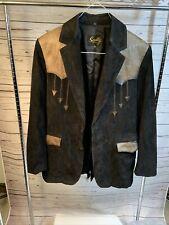 New listing vintage scully leather Blazer Mens Sz 44 Black
