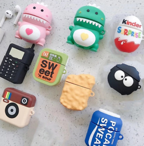 U3D Cute Cartoon Silicone Airpod Protective Case Cover Skin for Airpods 1/2