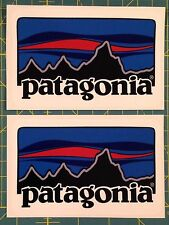 PATAGONIA RETRO COLOR STICKER X 2 DECAL FISHING HIKING CAMPING