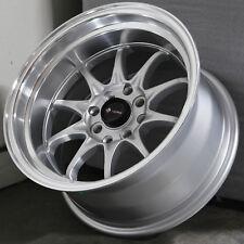 15x9 Silver Wheels Vors TR3 4x100/4x114.3 +0/0 (Set of 4 )