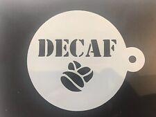Decaf Coffee Stencil