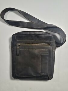 Visconti Leather Messenger Bag Shoulder Handbag Small Brown Travel