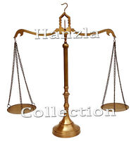"23"" Scales of Justice Lawyer Vintage Antique Brass Balance Collectable Ornament"