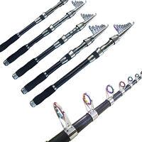 Carbon Fiber Telescopic Carp Fishing Rod Pole Hard 2.1m 3.6m USA Fast Deliver