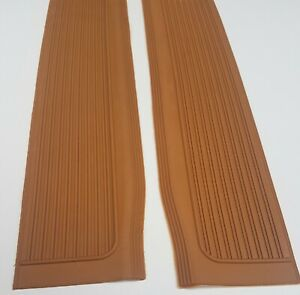Mercedes  R107 SL SLC Pair of Door  Sill Rubber Mat  Palomino color