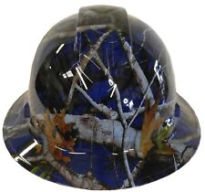 Hydro Dipped Hard Hat Ridgeline Full Brim Custom Light Blue Vista Camo