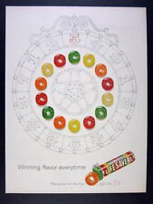 1960 Lifesavers Life Savers Five Flavor prize wheel art vintage print Ad