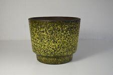 Yellow fat lava 70s ceramic gelber Blumentopf Planter Übertopf Handarbeit wgp