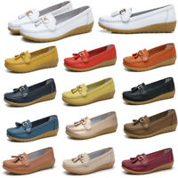 Women Loafers Mocassin Flat Pumps Ladies Casual Work Faux Leather Shoes Size 2-9