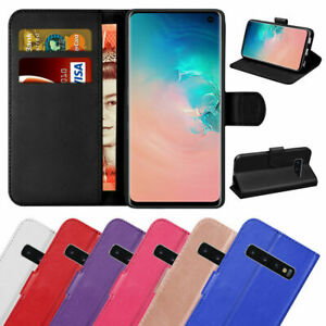 Book Case For Samsung Galaxy S10 Plus S9 S8 S7 A40 A70 Leather Magnetic Wallet