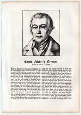 Ernst Friedrich Germar - Holzschnitt 1854