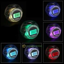 7 Colors With Nature Sound Night Light Bedroom 6 Type Music Alarm Clock+Calendar