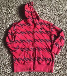 Nike Therma-Fit Dark Blue/Orange Dots Pullover Hoodie Sweatshirt Sz Youth S (8)