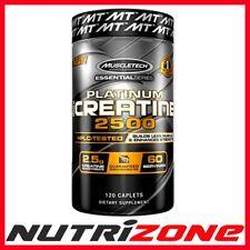 MUSCLETECH PLATINUM 100% CREATINE 2500 Pure Creatine Monohydrate 120 Caplets