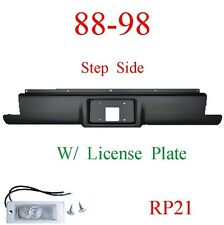 RP21 88 98 Chevy Step Side Rear Roll Pan With License Plate Light
