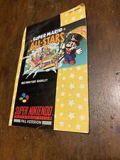 Super Mario Allstars Retro Game Instructions super Nintendo SNES uk pal