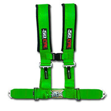 "50 Caliber Racing Seat Belt Harness Green 2"" 4 Point Polaris General RZR UTV ACE"