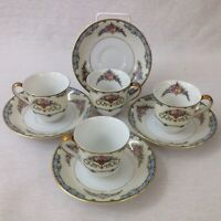 Noritake Coffee Cups And Saucers Favorita Set Of Four Vintage Pattern No 78057