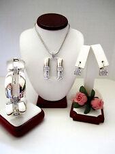 "Brighton ""MERIDIAN LINX"" Long Necklace-Earring-Bracelet Set (MSR$206) NWT/Pouch"