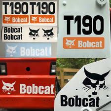 Bobcat T190 (SET OF 7) Skid Steer Replacement Aftermarket Vinyl Decal Sticker