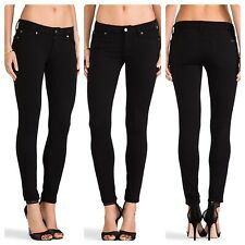 d6f92f8a37b9d 7 For All Mankind Womens 26 The Double Knit Skinny Black Jeggings Ponte  Stretch