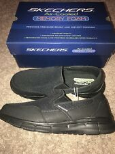 NIB Mens Sketchers Black Size 10 Shoes With Air Cooled Memory Foam