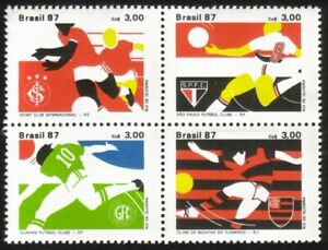 Championship Soccer Clubs - Complete Block of 4 Different