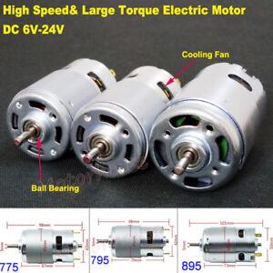 Large Torque RS-775 RS-795 RS-895 Motor DC 12V 18V 24V High Speed Electric Motor