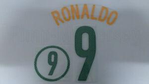 RONALDO #9 Brazil Home 2004-2006 Name Set