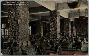 "1910s Asheville, North Carolina Postcard ""South End 'Big Room', GROVE PARK INN"""