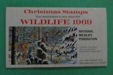 1969 National Wildlife Federation Christmas Stamp 5 sheet booklet Arthur Singer