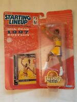 Starting Lineup 10th Year 1997 Edition Eddie Jones Lakers Action Figure w/Card