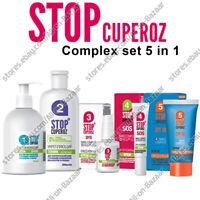 NEW Stop Cuperoz Comlex set 5in1 gel Tonic, Cream SPF15, SPF30, Intensive Cream