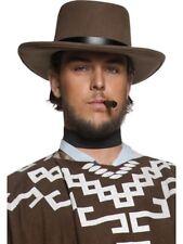 Authentic Western Wandering Gunman Hat Mens Smiffys Fancy Dress Costume Hat