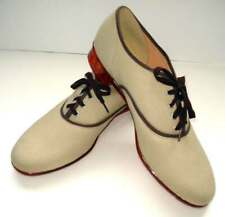 NWOB Men's Canvas Lace-Up Light Tan Shoes Size 10 made in USA
