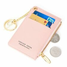 Card Holder Women Soft Leather Key Chain Bag Small Wallets Female Credit Card