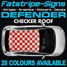 LAND ROVER DEFENDER GRAPHICS CHECKER ROOF STRIPES DECALS STICKERS 4x4 90 110 130