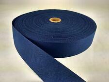 1 inch 25 feet  NAVY BLUE lighweight poly twill tape, fabric binding