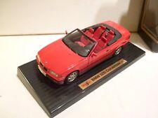 Maisto-1993-BMW-325i-Convertible-Red-1-18-Diecast-Model-inTop-Condition  Maisto