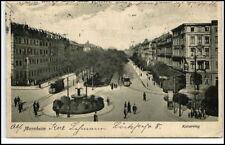 MANNHEIM 1922 Personen Verkehr mit Tram Strassenbahn am Kaiserring AK gelaufen