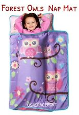 Hoot OWL Purple School NAP MAT Toddler Daycare Preschool Owls BLANKET+PILLOW Set